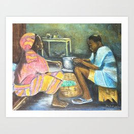 The supper Art Print