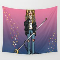 sailor moon Wall Tapestries featuring Sailor Moon by yum'