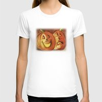 lanterns T-shirts featuring Jack-O-Lanterns by Jeff Moser Watercolorist