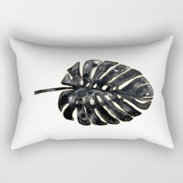 Black and gold Monstera Rectangular Pillow