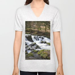 Trees and Water Unisex V-Neck