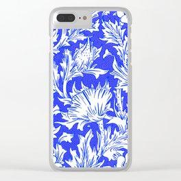 "William Morris ""Horn Poppy"" 1. Clear iPhone Case"