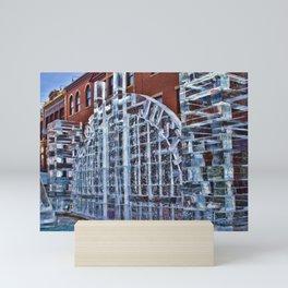 Justice in Ice Mini Art Print