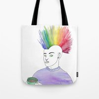anarchy Tote Bags featuring Cosy Anarchy by Cazzasaurus