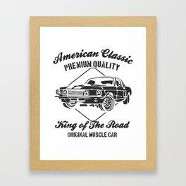 american clasic Framed Art Print