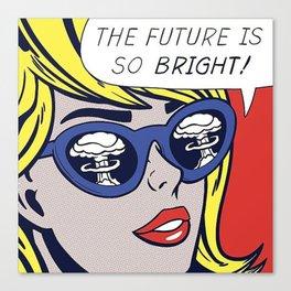 Pop Optimistic Girl Canvas Print