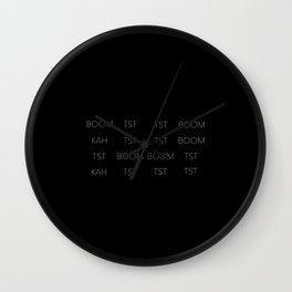 Drum Beat 1 Wall Clock