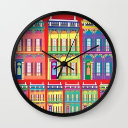 NEW ORLEANS HOUSES Wall Clock
