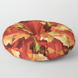 Autumn Leaves Abstract - Painterly Floor Pillow