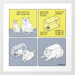 How to Stop a Cat from Stealing Food Art Print