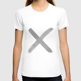 kiss hug, x o, love, typography T-shirt