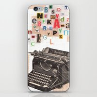 writer iPhone & iPod Skins featuring Paperback Writer by Felicia Dadak