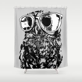 Geek Owl Shower Curtain