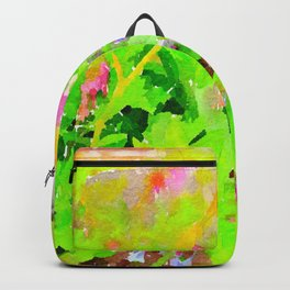 Abstract Spring Flowers Bleeding Hearts and Virginia Bluebells Backpack