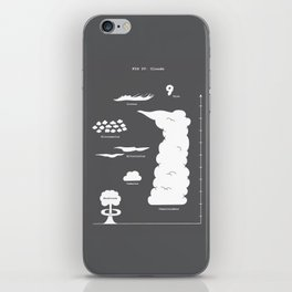 Know your clouds! iPhone Skin