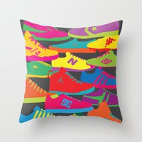 sneakers Throw Pillows featuring Sneakers by Glen Gould