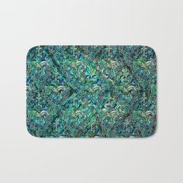 Persian Oriental pattern abalone and silver Bath Mat