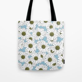 Daisy Blue Tote Bag