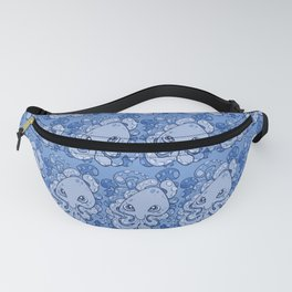 Happy Octopus Squid Kraken Cthulhu Sea Creature - Baby Blue Fanny Pack