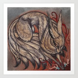 Nine Tailed Fox Art Print
