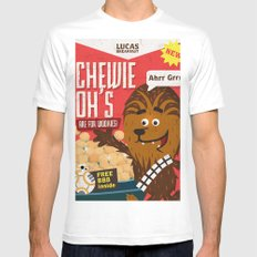 Chewy ohs MEDIUM Mens Fitted Tee White