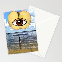 The Woman and the Eye apple Stationery Cards