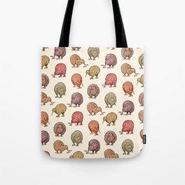 Hungry Kiwis – Warm Earth Tones Tote Bag