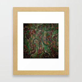 Kashmir on Wood 05 Framed Art Print