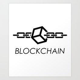 Blockchain Logo Art Print