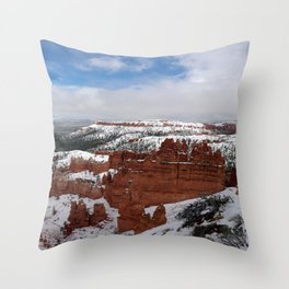 Bryce Canyon Under a Blanket of Snow Throw Pillow
