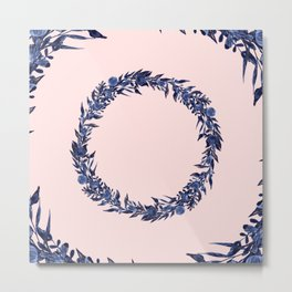 Dawn of Flowers, Blue Willow. Metal Print
