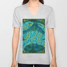 Mandala Crab - Beach Art - Sharon Cummings Unisex V-Neck