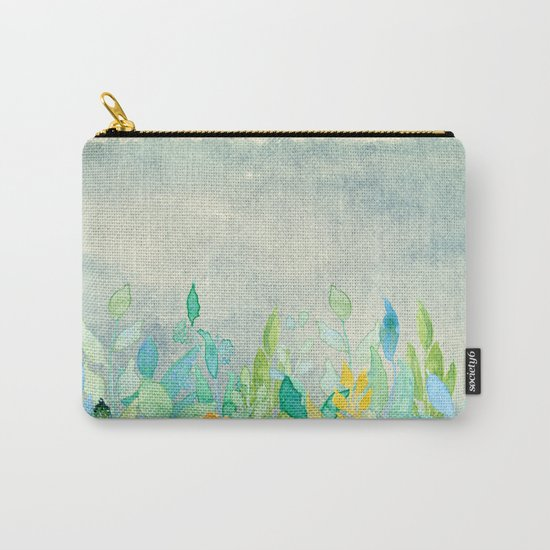 flowers in a meadow - Floral watercolor illustration Carry-All Pouch