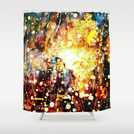 Burning Car - Dream Series 003 Shower Curtain