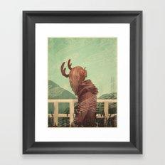 Last Year's Antlers Framed Art Print