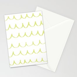 Citron Green Waves Stationery Cards