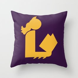 Lady Bat Reads Throw Pillow