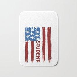 Student American Flag Banner School Collage Gift Bath Mat
