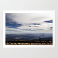 Railroad Overlook Art Print