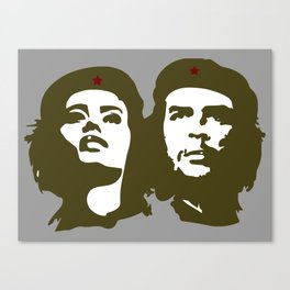 Che Guevara and the woman he loved Canvas Print