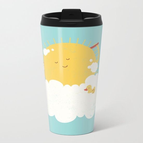 sun-bathing Metal Travel Mug