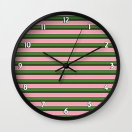 Pink Roses in Anzures 3 Stripes 2H Wall Clock