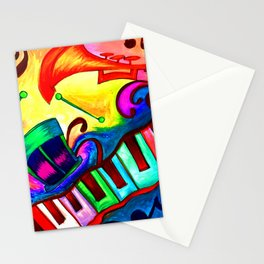 Music in color Stationery Cards
