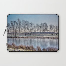 Winter landscape in Holand Laptop Sleeve