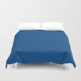 Pug Ride ~ Dodger Blue Coordinating Solid Duvet Cover