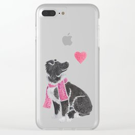 Watercolour Border Collie Clear iPhone Case