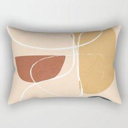 Modern Abstract Shapes 36 Rectangular Pillow