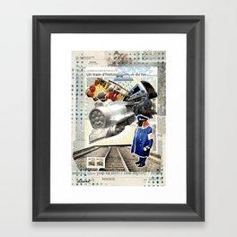 COLLAGE: Trains Framed Art Print