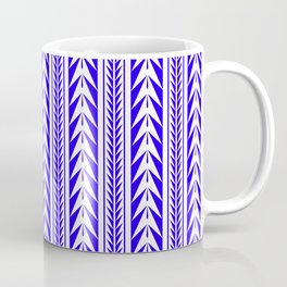 Moroccan Stripes Blue Coffee Mug