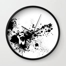 Ballet Slipper Splatter Painting Wall Clock